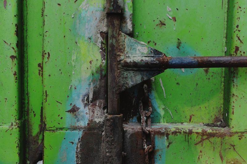 Full Frame Shot Of Rusty Metallic Door