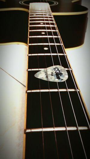 Acoustic Guitar Black Guitar 6 Strings Guitar Pic Guitar Pick another pic of my guitar :-)