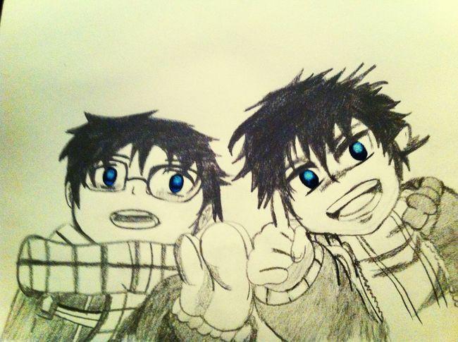 Drawing Rin & Yukio Okumura