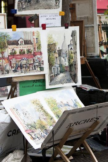 Art Canvas France Montmartre Painters Paintings Paris Place Du Tertre