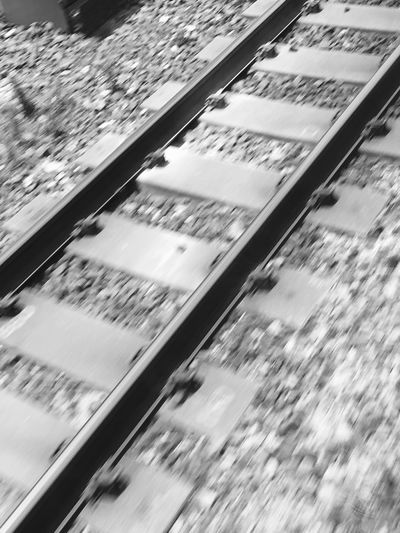 Rail Passing Running Fromthetrain Infrastructure Japan Railway Strong Base Blurred Motion High Angle View Speed Motion Transportation Outdoors No People 線路 日本を支える インフラ 140年 Jr 60mph Photo