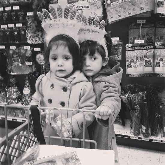 The girls helping me pick out their party supplies for tomorrow Stella Sophia Doraparty Love family