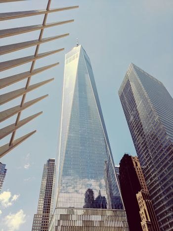 Modern Architecture Skyscraper Business Finance And Industry Urban Skyline Steel Sky Tower City Business New York City Financial District  Freedom Tower