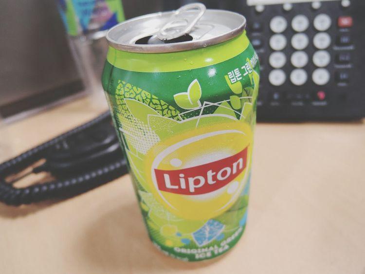 이거 마시는데 자꾸 풀잎사랑 노래가 생각남... Lipton Ice Tea Good Morning World!