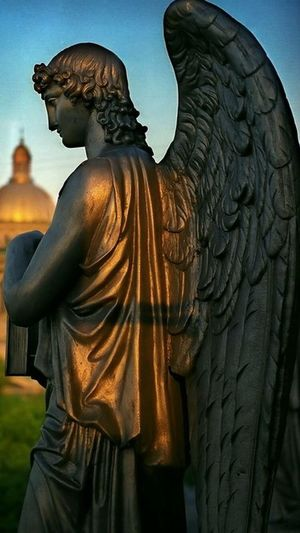 Statue Outdoors No People Citi Angel Angel Angel Of Saints-Petersburg Miles Away EyeEmNewHere The City Light