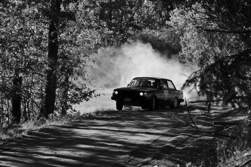 Slide Drifting Drift Dirty Road Volvo240 Volvo Swedishrally Swedish Rally Car No People Motion Outdoors Forest Road First Eyeem Photo