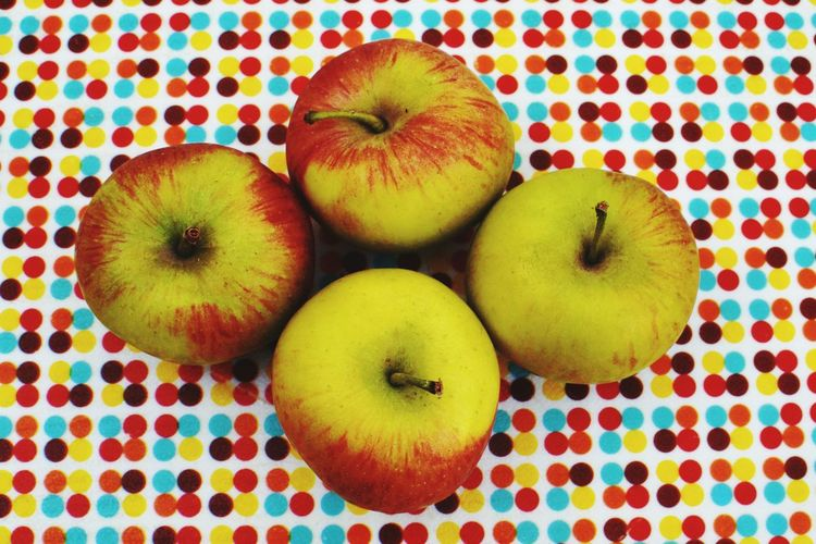 Apples Fruits Fruit Photography Freshness Still Life Multi Colored Vibrant Color Repetition Arrangement Part Of Five A Day