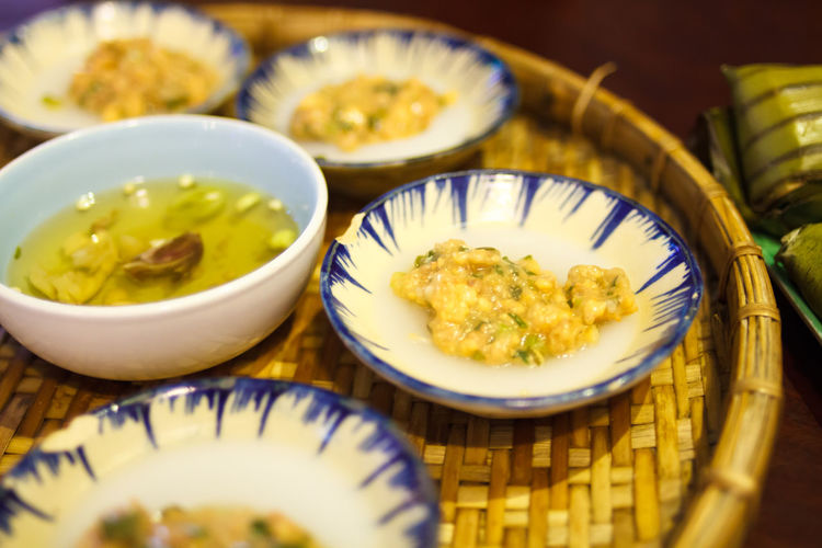 Banh beo- Traditional Vietnamese water fern rice cake that served with stirred shrimp as a topping, eat with fish sauce Bánh Bèo Cake Capital Cities  Cuisine Fern Fish Sauce Food Food And Drink Freshness Freshness Healthy Eating Healthy Lifestyle Hoi An Huế Rice Tradition Traditional Tray Vietnam Vietnamese Vietnamese Food Water