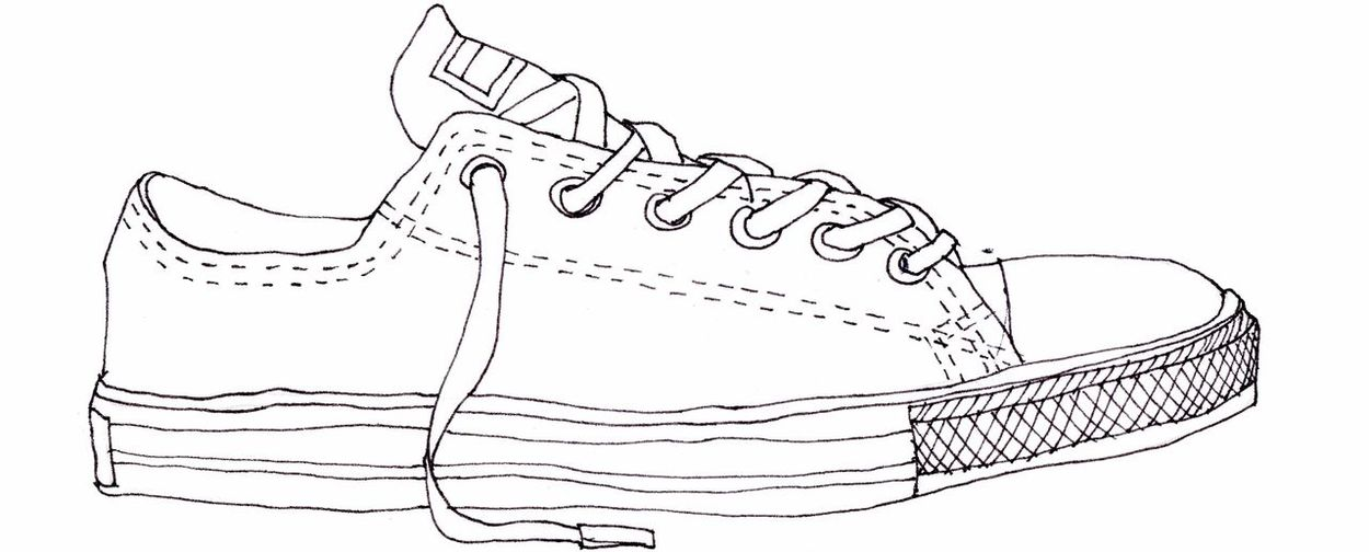 Sketch Pencil Drawing No People Drawing Converse Shoes My Point Of View My World Work Fröccskocsma