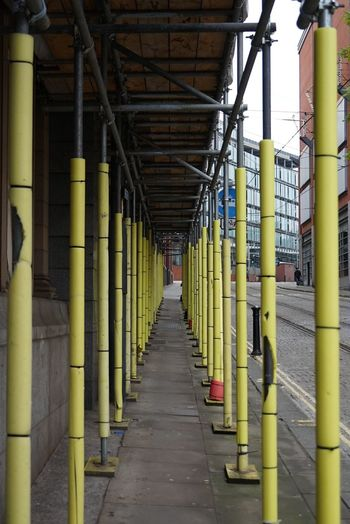 Street Photography. Manchester, United Kingdom Architectural Column In A Row The Way Forward Industry No People Day Streetphotography Street Architecture