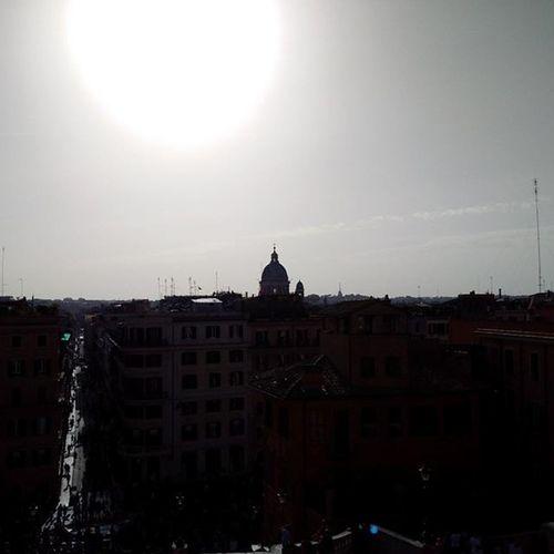 Rome skyline from the top of Spanish Steps Romeskyline Spanishsteps 135steps