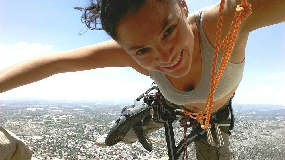 Hi! Mexico Escalando Alturas Happyday Sunny Day Climbing Beautiful Nature That's Me Ropes Peña De Bernal Queretaro,Mexico So Exciting Concentration Hello World 280m Playtime Naugty