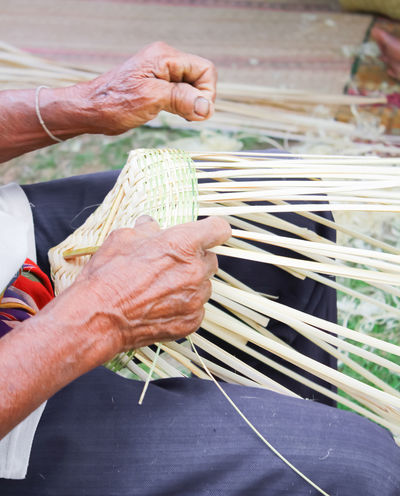 Adult Adults Only Art ArtWork Bamboo Bamboo - Plant Close-up Day Human Body Part Human Hand People People And Places People And Places. People Of EyeEm People Photography Peoplephotography Peoples Thai Thailand Woven Woven Bamboo Woven Basket Woven Baskets Woven Pattern Wovenhand Handmade For You