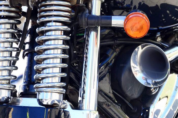 vintage motor cycle light bar
