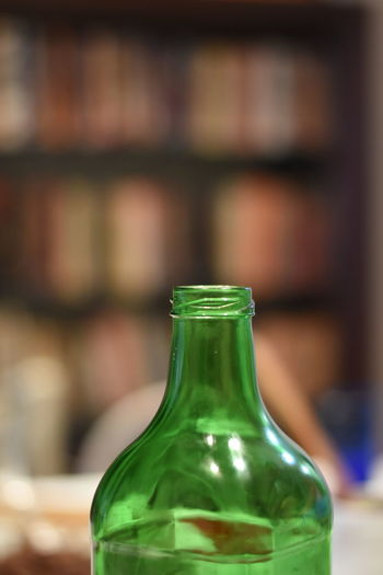 Alcohol Bottle Close-up Cork - Stopper Day Drink Focus On Foreground Food And Drink Freshness Green Color Indoors  No People Table Wine Wine Bottle