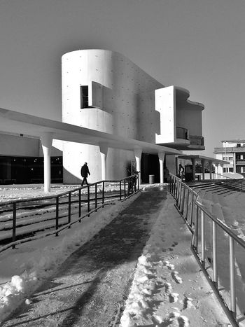 Darmstadt Staatstheater Winter Architecture Monochrome