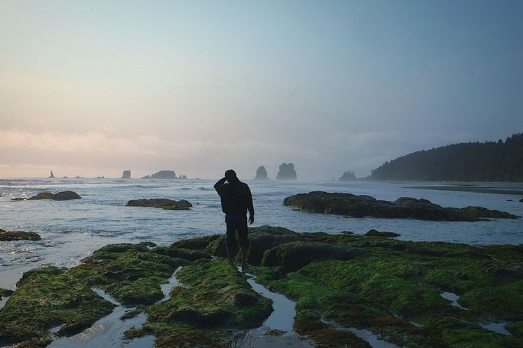 Lost And Found Alone Amazement Discovery Coast Beach Youth Wanderlust Sunset Disbelief Lost Soulsearching Pacific Northwest  Second Beach Washington Fresh On Eyeem  The Great Outdoors - 2016 EyeEm Awards The Essence Of Summer