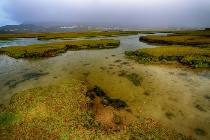 wetlands, Mulranny Strand, County Mayo Ireland. Bad weather Bad Weather Grass Irish Weather Mayo Ireland Mulranny Rain Storm Beauty In Nature Beauty In Nature Bog Bridge Day Grass Lake Landscape Nature No People Outdoors Scenics Sky Tranquil Scene Tranquility Water Waterfront Wet