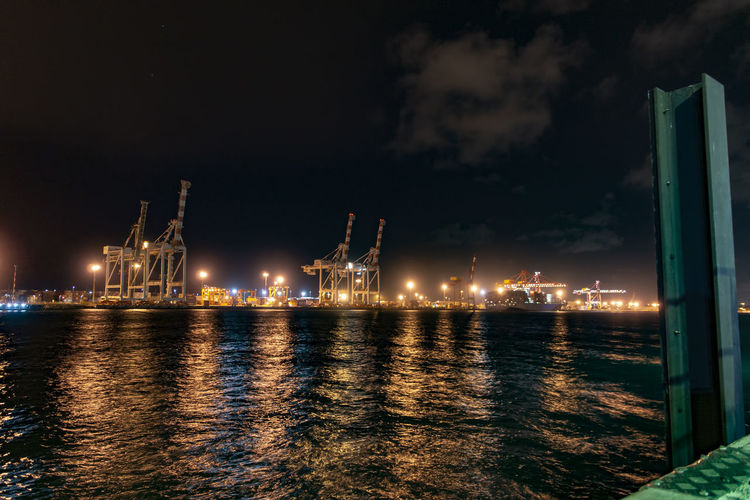 Fremantle port at night