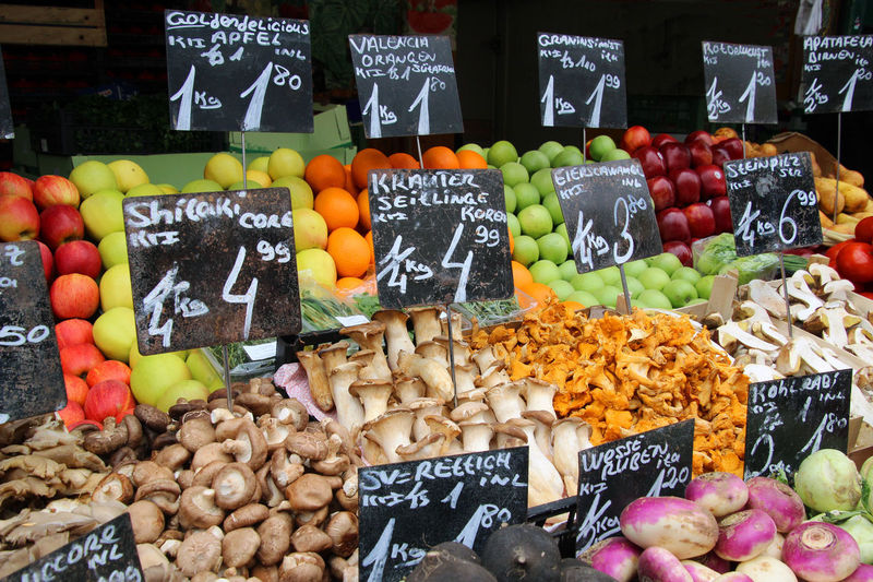 Farmers Market Fruit And Vegetable Market Market Stands Abundance Apricot Banana Choice Food Food And Drink For Sale Freshness Fruit Healthy Eating Market Market Stall Mediterranean Market Stall Multi Colored No People Peach Pear Price Tag Retail  Variation Vegetable