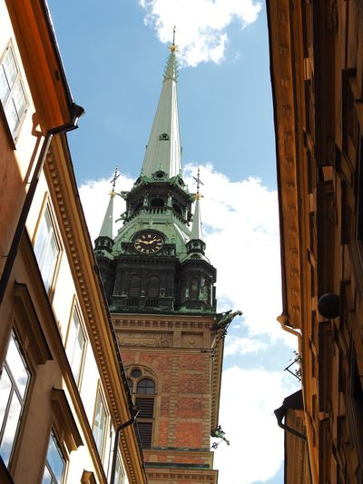 Church tower in Stockholm Old City Church Tower Church Architecture Church Churchtower Old Buildings Old House Old Town Old Architecture Old Building  Old City Stockholm Streetphotography Stockholm Stockholm, Sweden