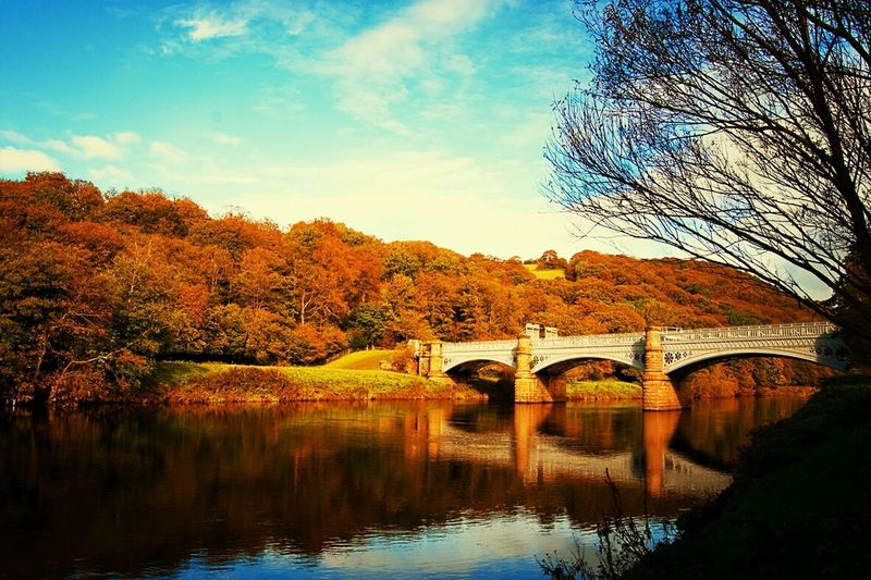 Autumn on the Lune Water Reflections Landscape Autumn