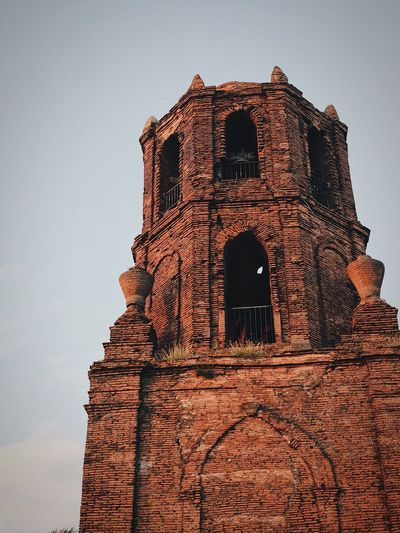 Bantay Bell Tower in Ilocos Sur, Philippines Architecture Low Angle View Religion Building Exterior Built Structure History Place Of Worship Arch Spirituality No People Day Outdoors Sky Clear Sky The Week On EyeEm EyeEmNewHere