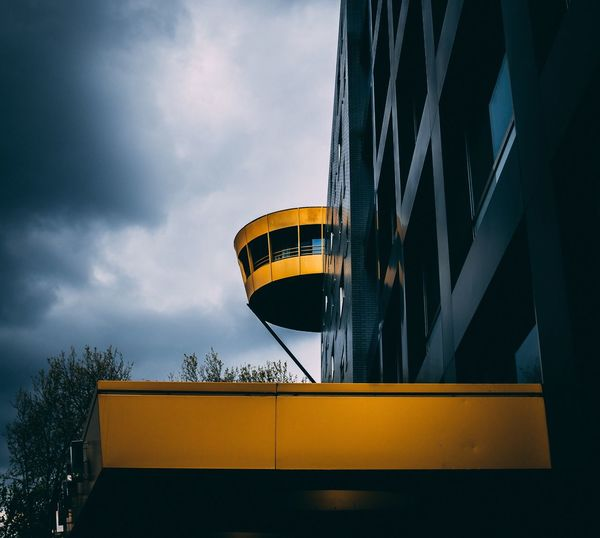 Gold embedded Cloud - Sky Sky Architecture Built Structure Low Angle View Yellow Building Exterior Outdoors No People Day Nature Gold EyeEm Best Shots Architecture_collection