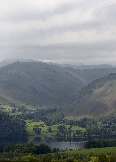 Beauty In Nature Cloud - Sky Countryside Day Green Color Growth Idyllic Lake District Landscape Majestic Mountain Mountain Range Nature No People Non Urban Scene Non-urban Scene Outdoors Remote Scenics Showcase June Tranquil Scene Tranquility Tree Ullswater Valley