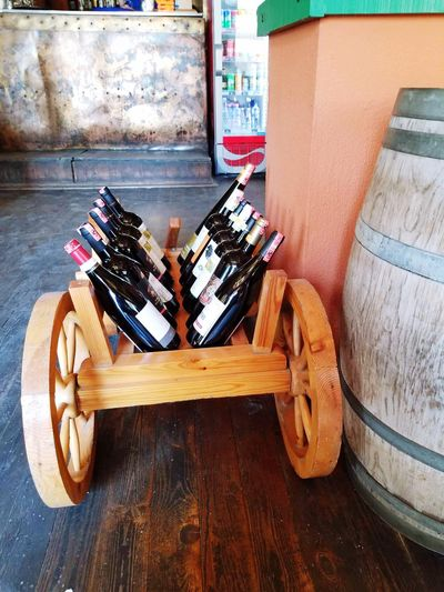 Wine Barrels Winebottles