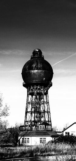 Silhouette Sky Architecture Built Structure Iron - Metal Steel Mill Water Tower - Storage Tank