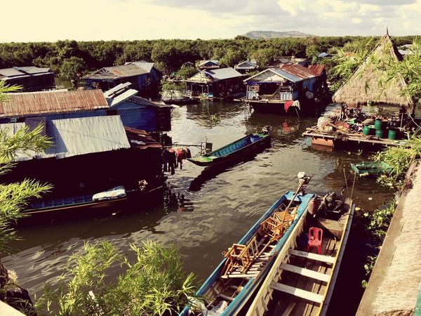 Floating Village Cambodia Siam Reap Local Life