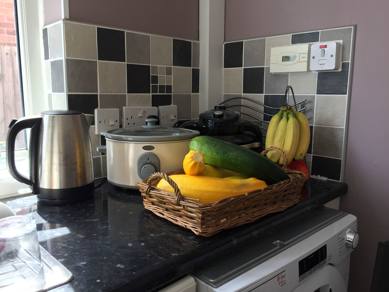 FRUITS AND VEGETABLES ON KITCHEN AT HOME