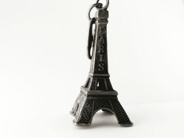 Paris on the keys Black & White Key Chain Light Box Macro
