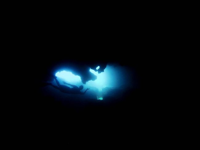 Blue Room Hawaii Blueroom Sharkscove One Person Real People Lifestyles Night Outdoors People Water Sea Nature Beauty In Nature Cavediving