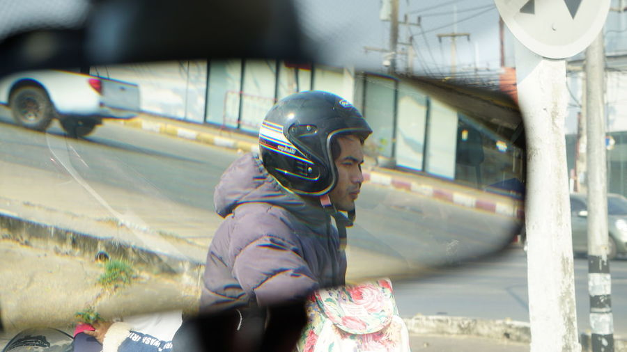 Bicycle Retrovisor Reflection Spy Street Art