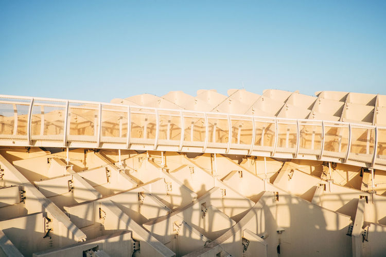 Sevilla / Spain EyeEmNewHere Metropol Parasol SPAIN Sevilla The Graphic City Architecture Blue Building Exterior Built Structure Clear Sky Day Low Angle View Nature No People Outdoors Plaza De España Sky Sunlight
