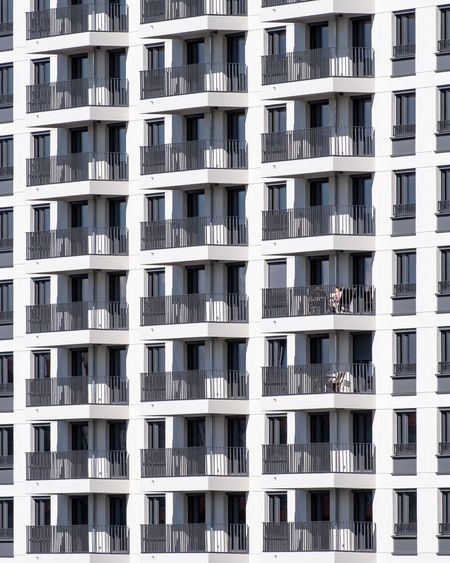 Facade Architecture Built Structure Full Frame No People Repetition Pattern In A Row Backgrounds Window Fujix_berlin Ralfpollack_fotografie Minimalism Minimalist Photography  Building Exterior Building City Side By Side Outdoors Residential District Balcony Apartment Day