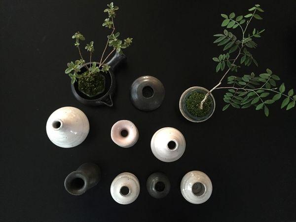 new work🖐🏿 Pottery Ceramics Vase Flowervase Budvase Objects 陶芸 陶器 花器 花瓶 一輪挿し