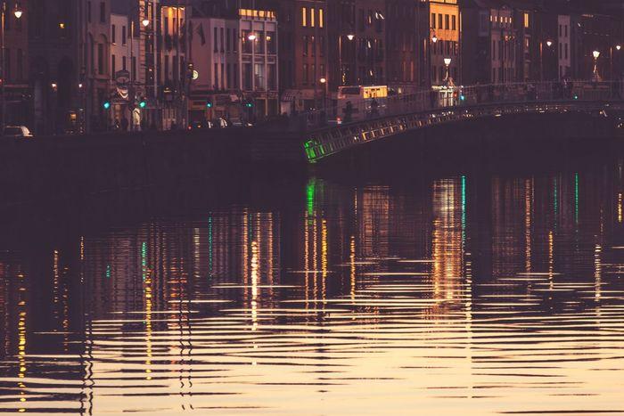 Cityscape City Night Illuminated Architecture Bokehlicious Streetphotography Dublin No People Cityscape Streetphoto Outdoors City Built Structure Travel Destinations Architecture Bokeh Photography Reflection River River Bridge Ireland EyeEm Selects