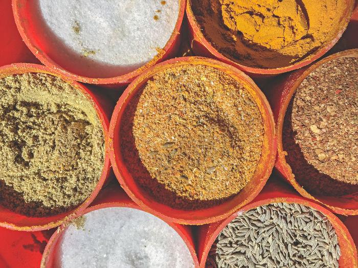 Full frame shot of spices