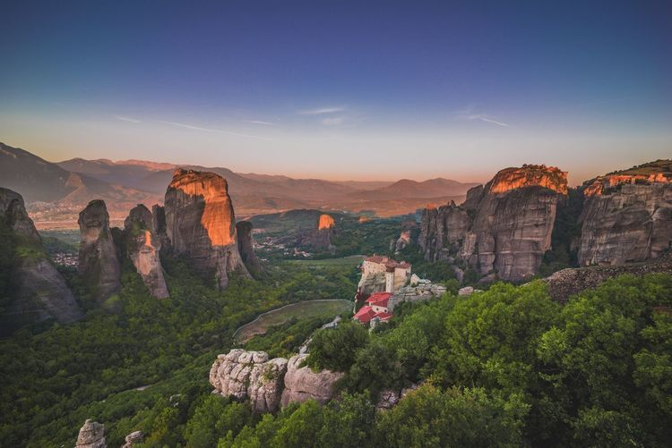 Meteora , Greece's City In The Sky , features the Holy Monastery of Rousanou & The Power Of Nature @ Kalambaka city. Greek Landscape Greek Landmarks Landscapes EyeEm Nature Lover Holy Place Travel Nature Giant Rocks Amazing View Sunrise The KIOMI Collection