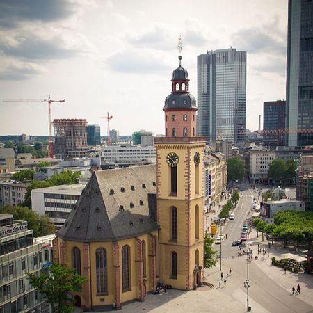Frankfurt Skyline Church Sky