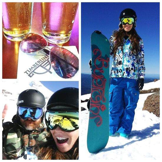 Best day ever! Hitting the black diamonds with my man Snowboarding Outdoors Check This Out Hello World Hardcider MtHood Color Portrait Hanging Out Enjoying Life Cheese!