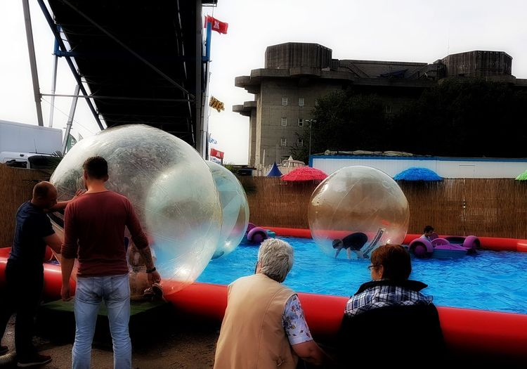 Water Ball Fun Game People Fun Park Outdoor Photography