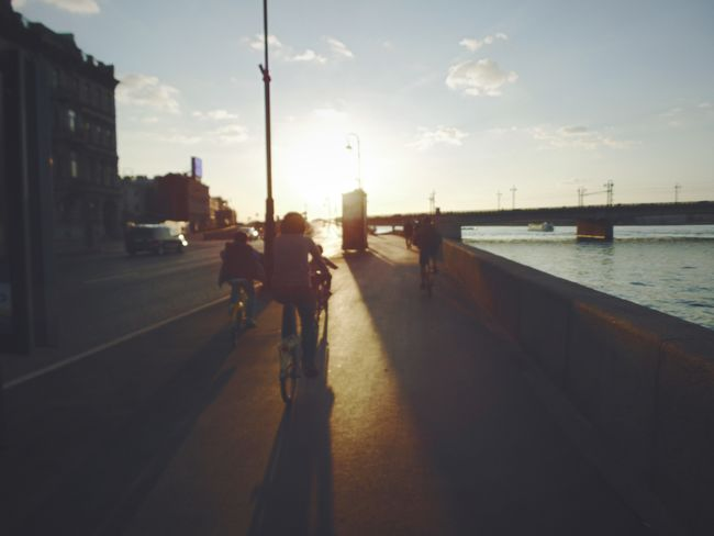Sky_collection Landscape_lovers Embankment Leningrad Bright Old Town Skycollection Landscape_Collection Russia, St.Petersburg Bridge Neva River Cloudlovers Urban Sunset Skylovers Landscapes Sky And City Waterscape Oldtown Silouette And Shadows Water Bycicle Rider