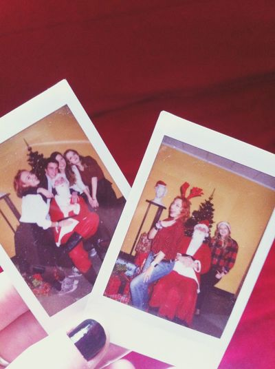 Taking Photos Christmas Friends Enjoying Life