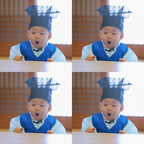 Morning😪😪 Daehanmingukmanse Kbs Thereturnofsuperman Songilkook family cute baby songminguk songdaehan songmanse sweet