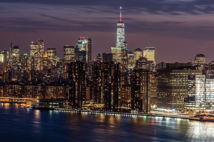 Cities At Night NYC Photography one World Trade Cente One World Trade Center