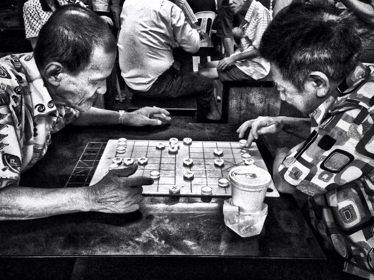 Streetphotography Blackandwhite Streetphoto_bw Street Photography Chinese Chess Old Folks Chinatown Singapore Man Monochrome Photography